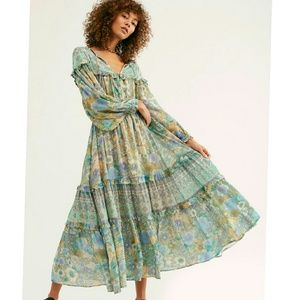 New spell x free people turquoise Amethyst gown L